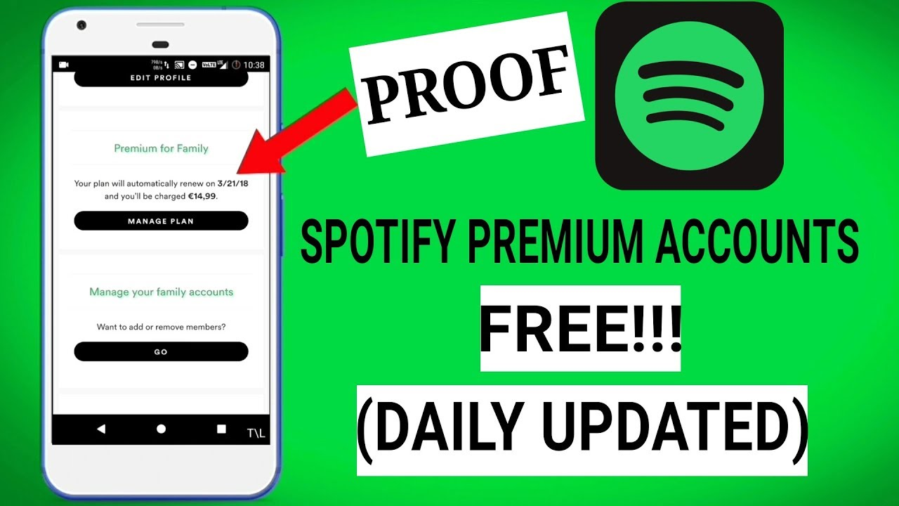 spotify premium accounts 2019
