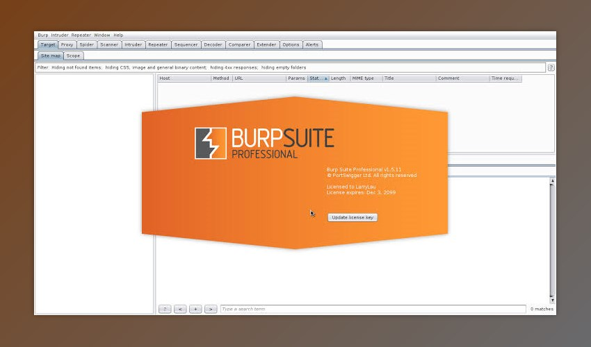 Burp Suite Professional Edition v2020.5